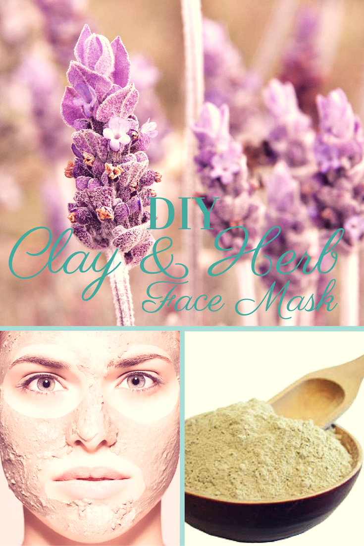 DIY Clay and Herb Face Mask | http://2momsnaturalskincare.com/