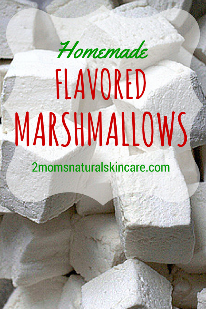 Homemade Flavored #Marshmallow #Recipe | http://2momsnaturalskincare.com/2014/10/super-yummy-flavored-marshmallow-recipe/ #essentialoils #gelatin