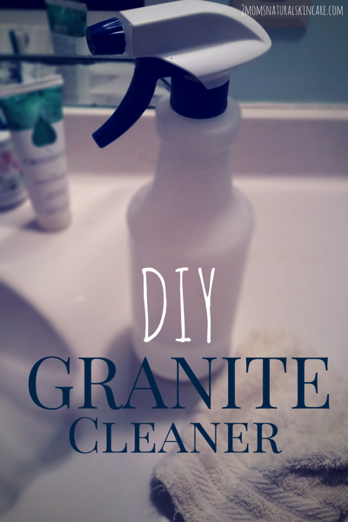 #DIY Granite Cleaner #greenclean #moneysaving | http://2momsnaturalskincare.com/2015/04/diy-granite-cleaner/