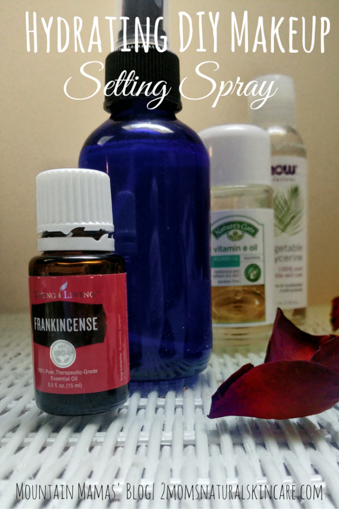 Hydrating DIY Makeup Setting Spray | Great for summer! | Mountains Mamas' Blog| http://2momsnaturalskincare.com/
