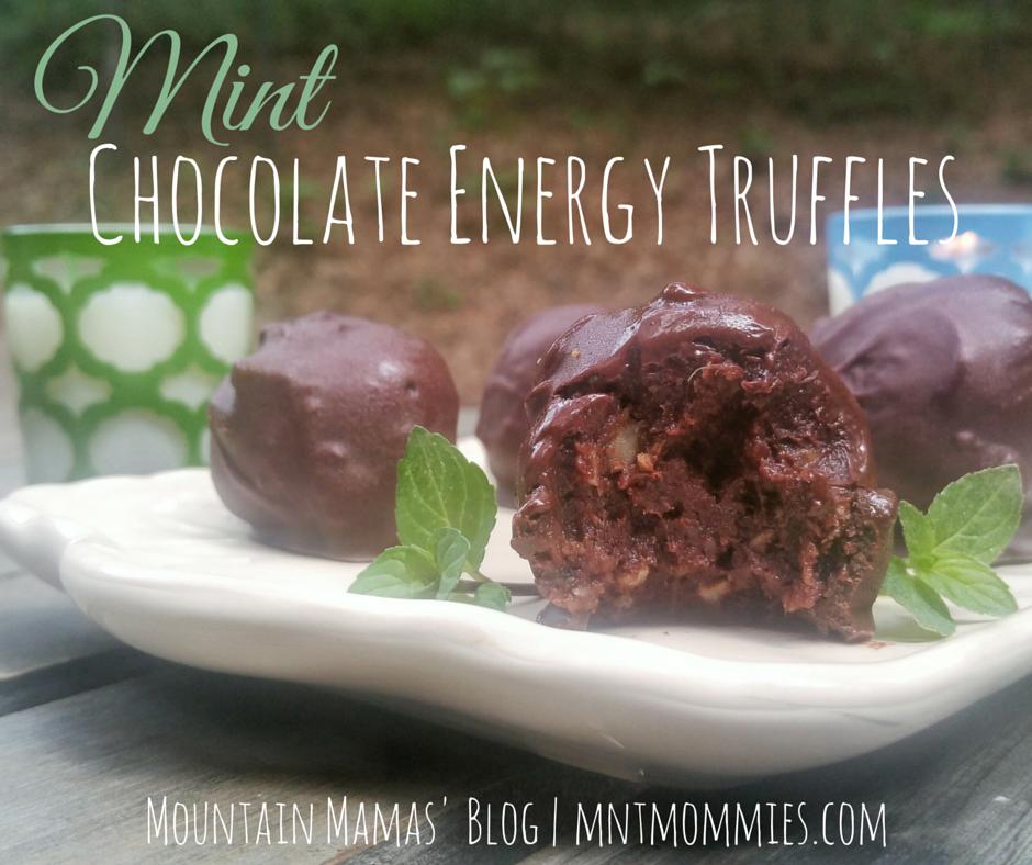 Mint Chocolate Energy Truffles Recipe   Mountain Mamas' Blog   Mntmommies.com