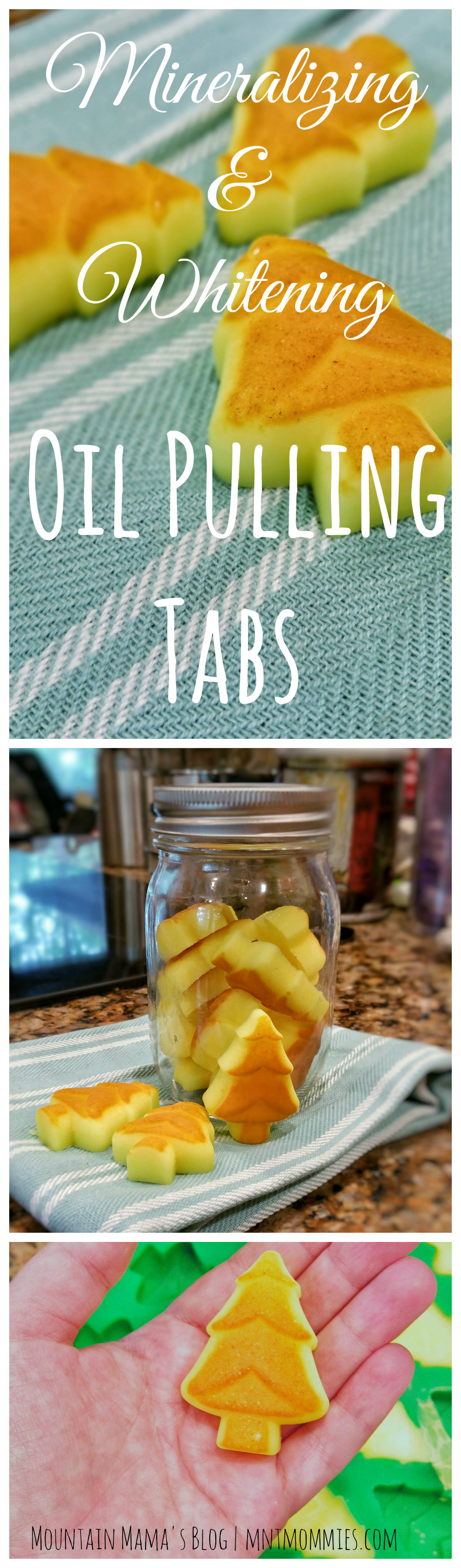 DIY Mineralizing & Whitening Oil Pulling Tabs | Mountain Mama's Blog | mntmommies.com