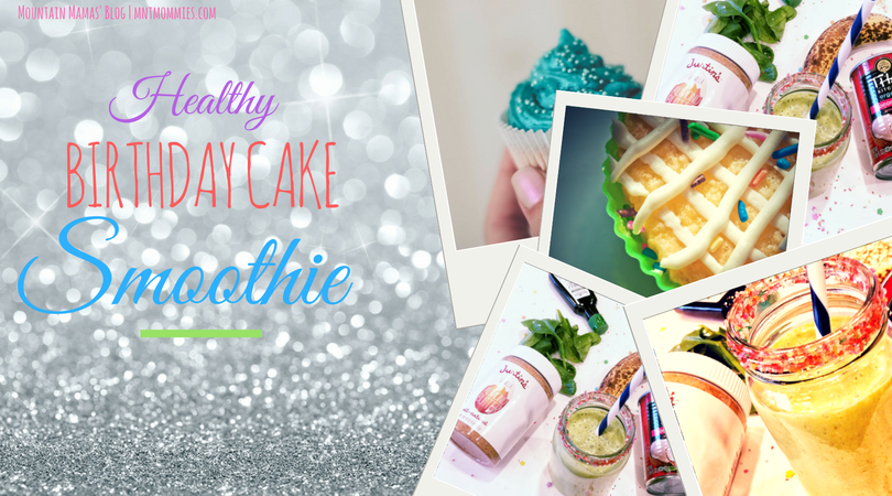 Healthy Birthday Cake Smoothie Recipe | Mountain Mamas' Blog | mntmommies.com